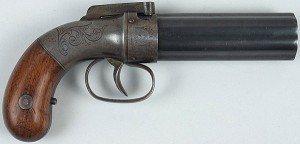 an Allen pepperbox pistol